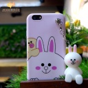 Classic case cute rabbit with cartoon chains for iphone7