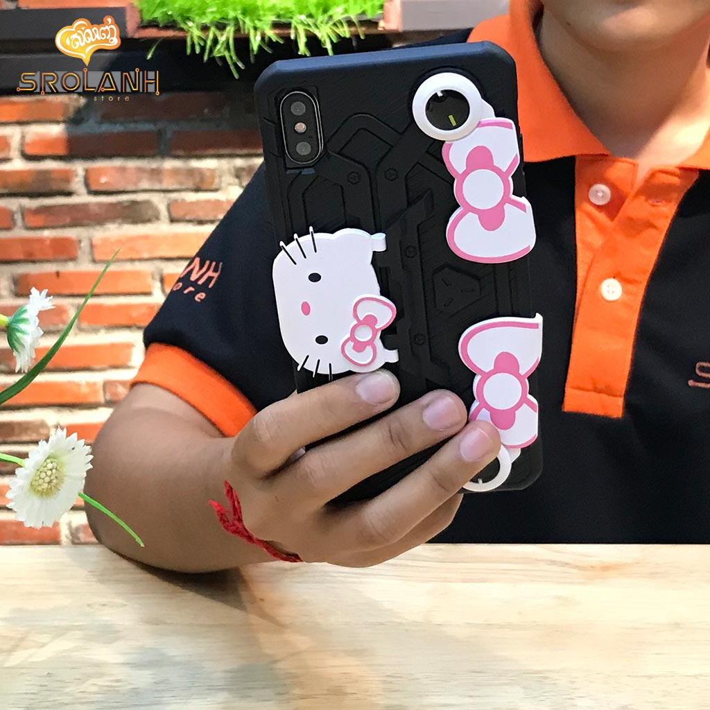 Gaming creative case with cartoon for iPhone X