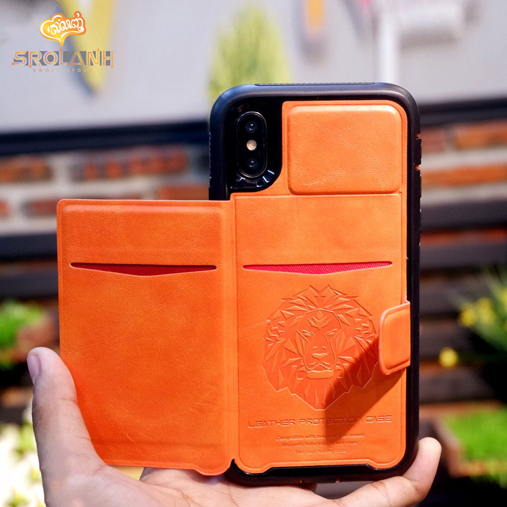 Leather protection case ledream soft+silm for iPhone X