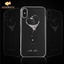 Kingxbar crystals from swarovski heart for iPhone XS-B05