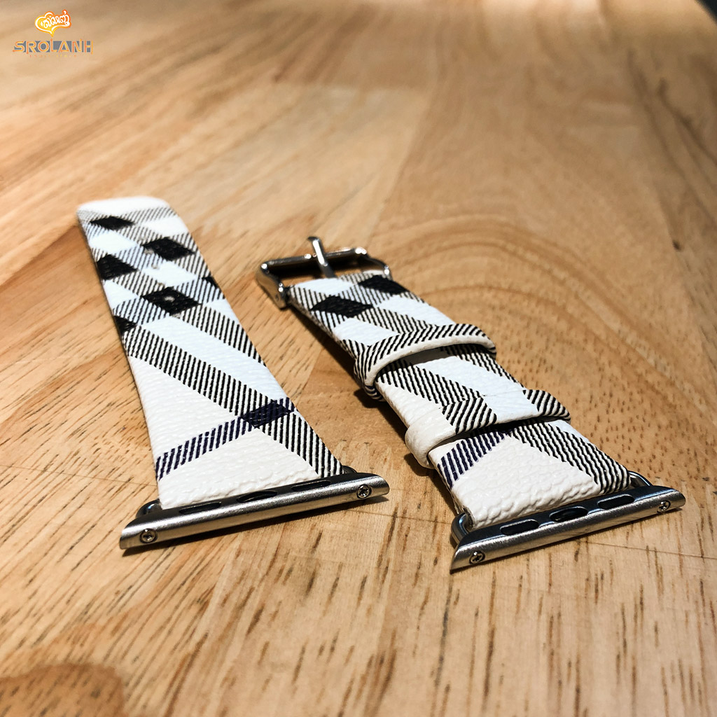Smart watchband LV leather for 42/44mm
