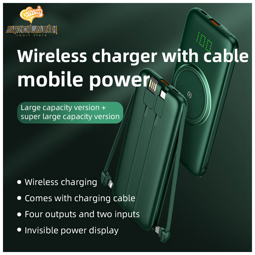 LIT The Wireless Charging Power Bank with Cable 10000mAh PBFW1-A01