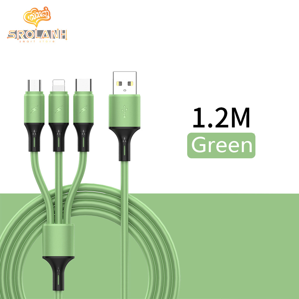 LIT The silicone 3in1 USB cable CSW3-A09