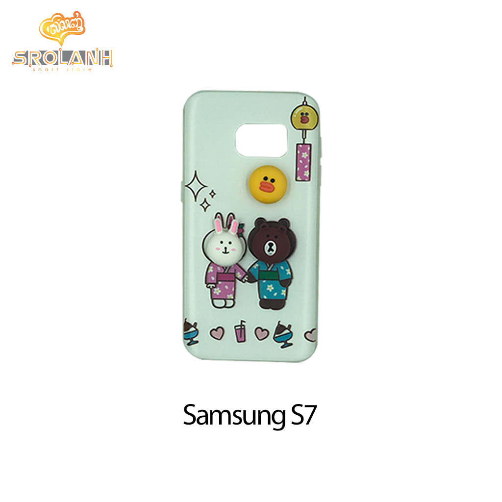 Classic case panda with Japan uniform for samsung S7