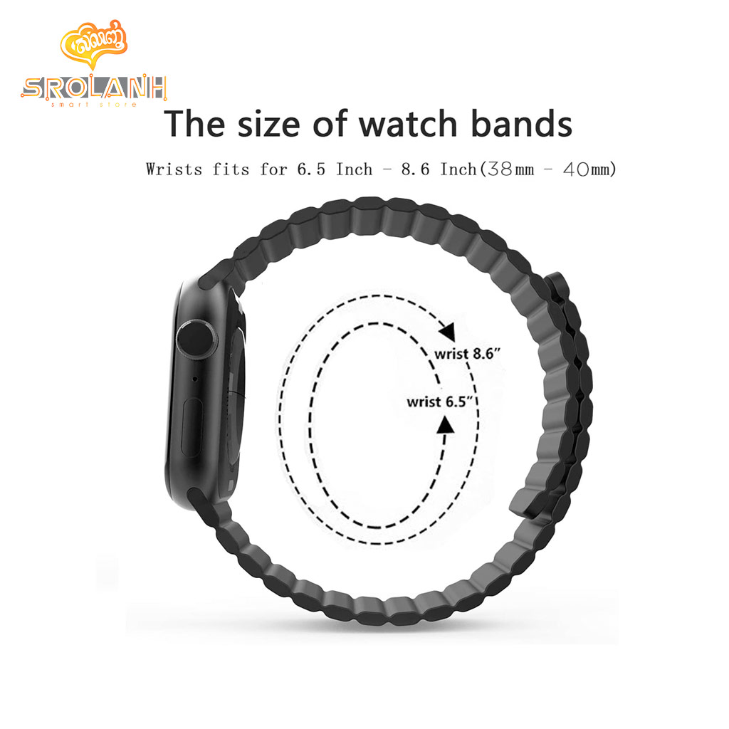 Silicone Watchband with Magnet L 38/40mm