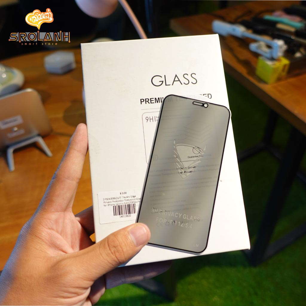 LIT The Arc Edge Privacy Protection Tempered Glass for iPhone 12 mini 5.4 GTIP54-PV01