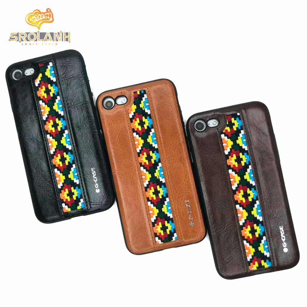 G-Case folk style series black color for iPhone 7/8