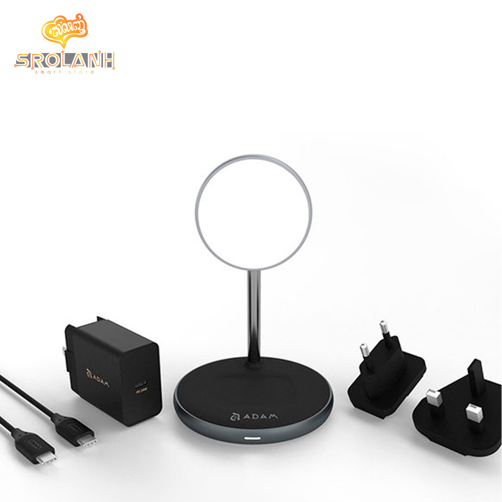 ADAM ELEMENTS OMNIA M2 MagSafe 2-in-1 Wireless Charger with Adapter