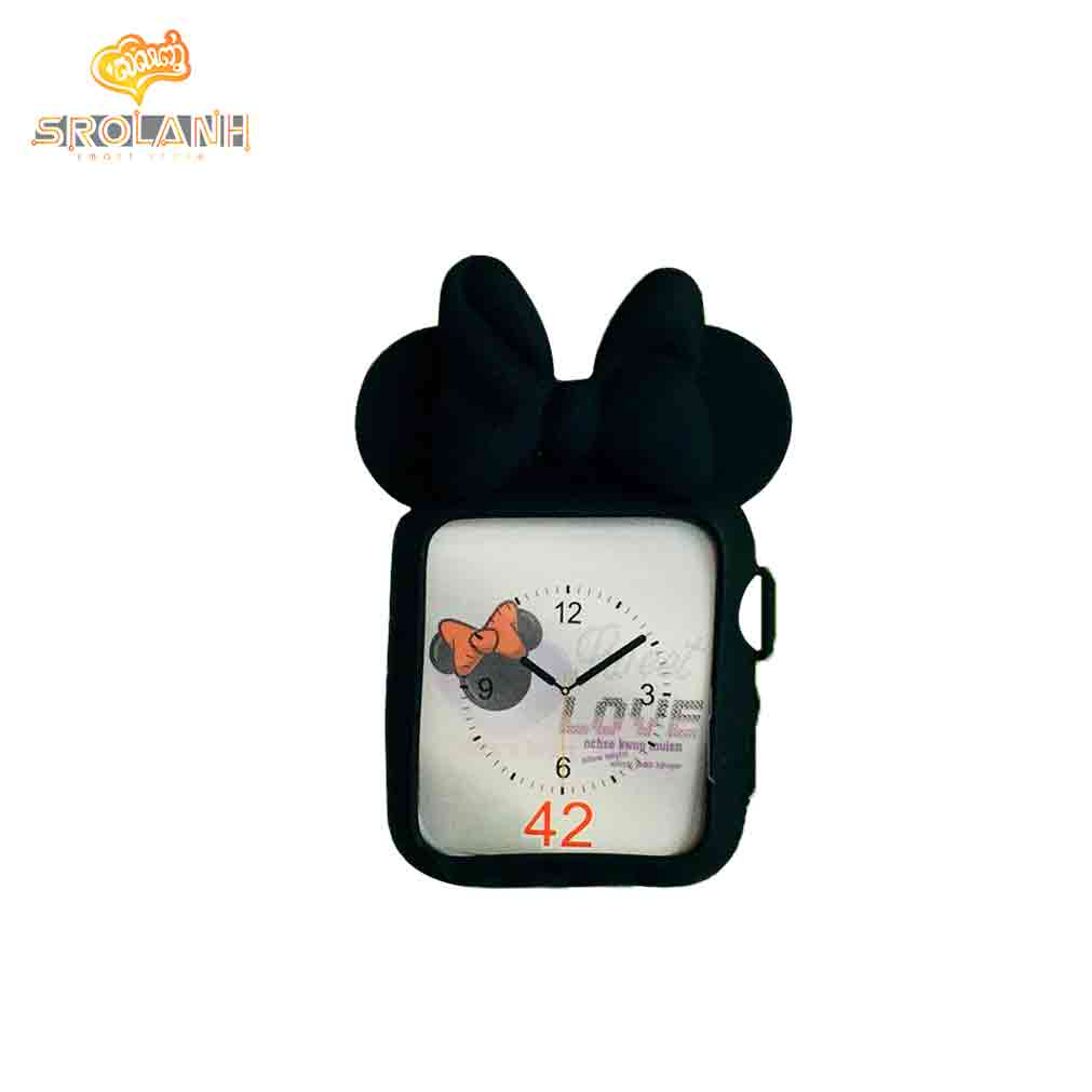 Black Butterfly silicone protective cover for Apple watch 38mm