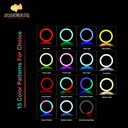 Colorful RGB Beauty Light 13inches(33cm) 4 Phone Holders Stand Tripod 2.1m