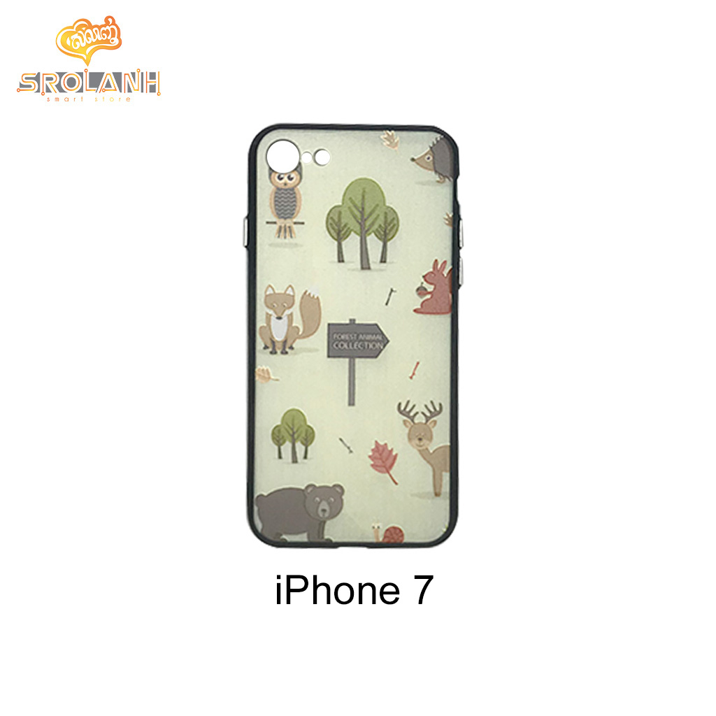 KB 360 creative case +screen forest animal collection for iphone7