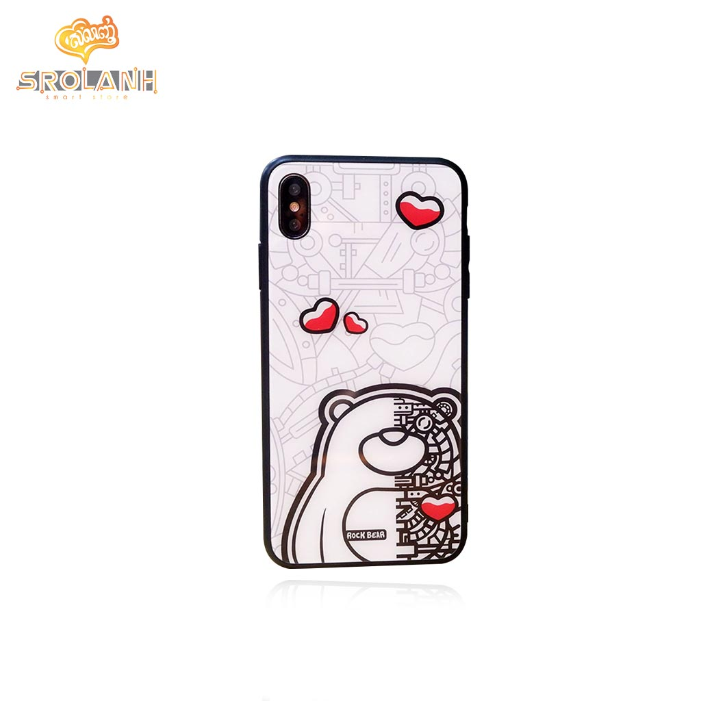 Protection case rock bear heart for iPhone XS