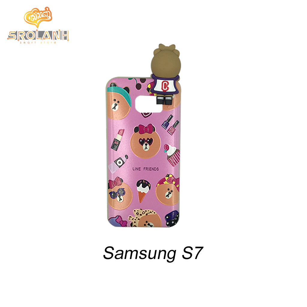 Super shock absorption case line friends for samsung S7 edge