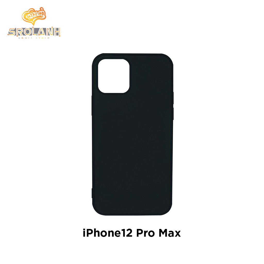 LIT The Solid Color Straight Edge TPU Soft Phone Cover for iPhone12 Pro Max 6.7 PSTP76-01