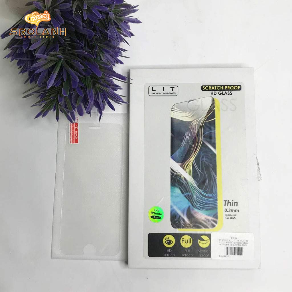 LIT The Thin HD 2.5D 0.33mm Tempered glass for iPhone 7/8 GTIP8G-TH01