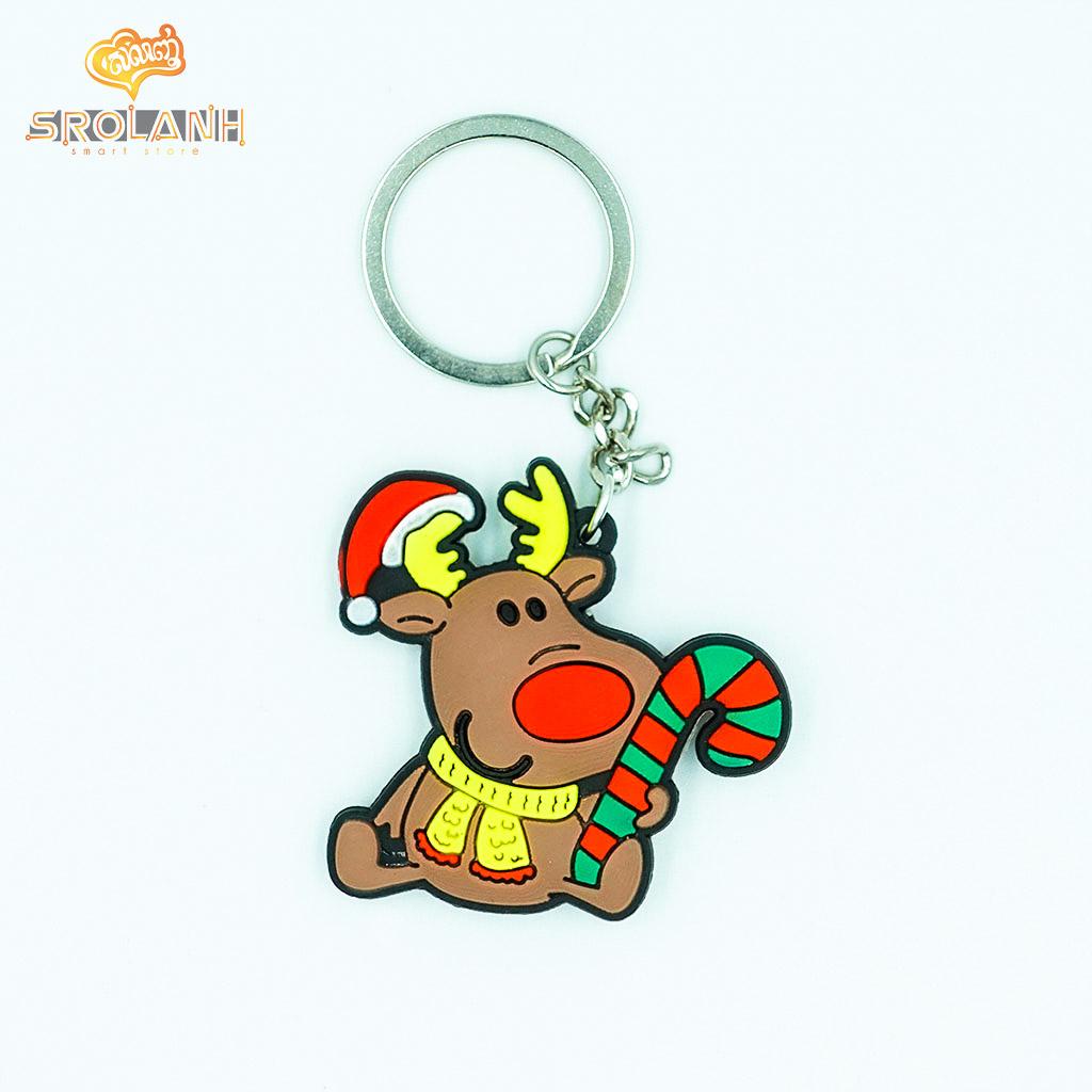 Keychain Christma PVC Deer