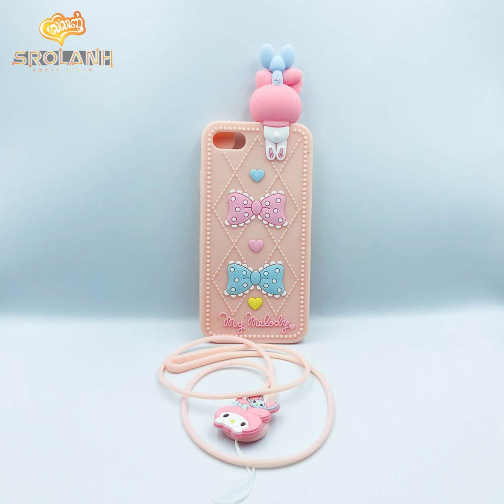 Cartoon Soft Case with lanyard My Melody for Iphone 7/8