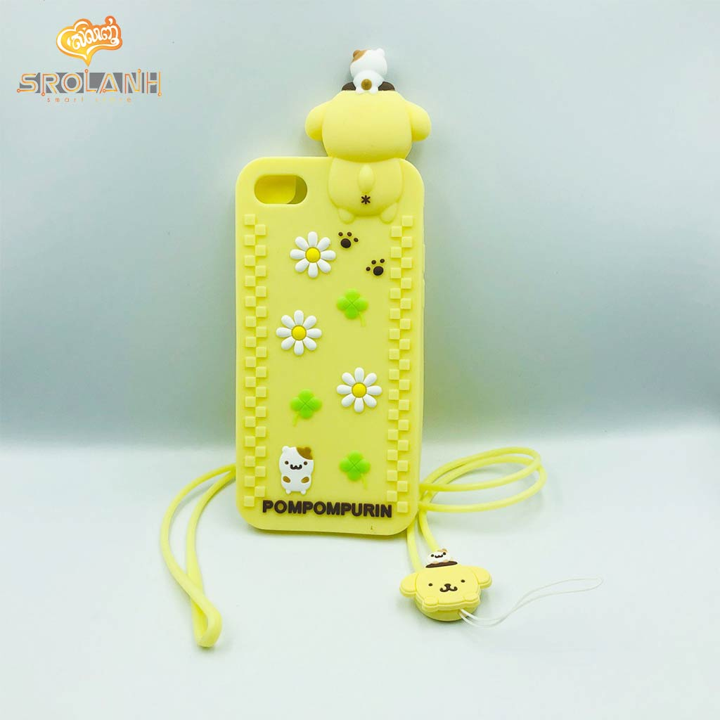 Cartoon Soft Case with lanyard Pompompurin for iphone 6/6s