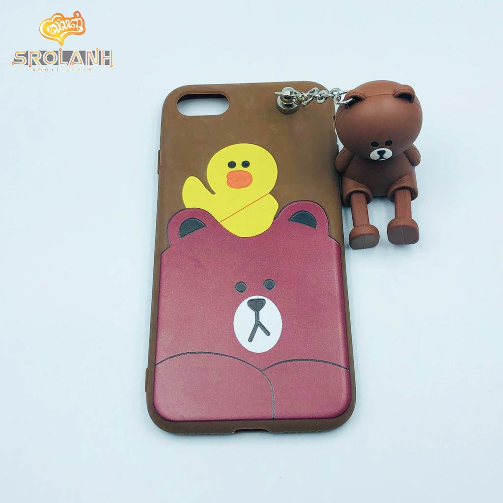 Classic case brown panda with cartoon chains for iphone7