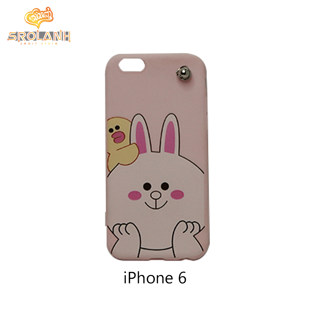 Classic case cute rabit with cartoon chains for iphone6