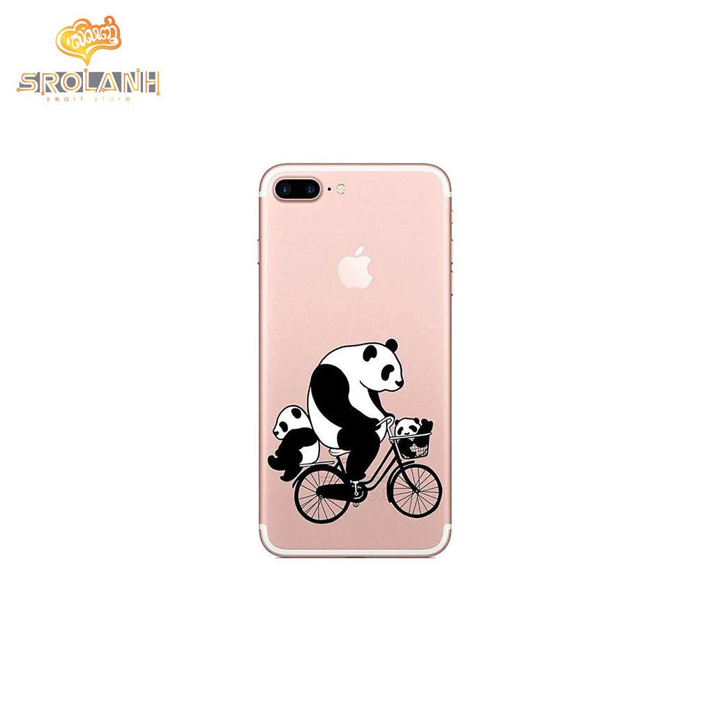 Classic case panda driving bike for iphone7