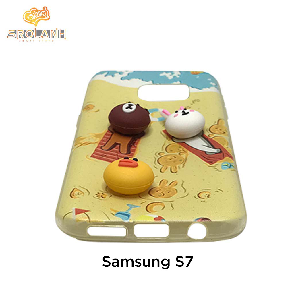 Classic case two-panda with candy for samsung S7