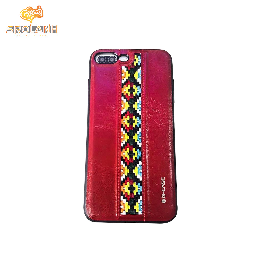 G-Case folk style series red color for iPhone 7/8