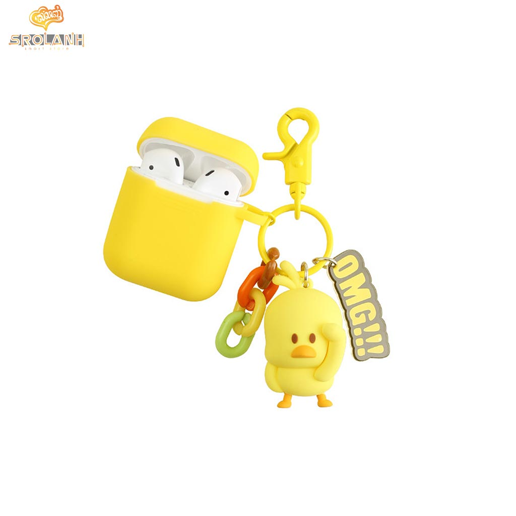 Cartoon Duck Keychain And AirPods Case