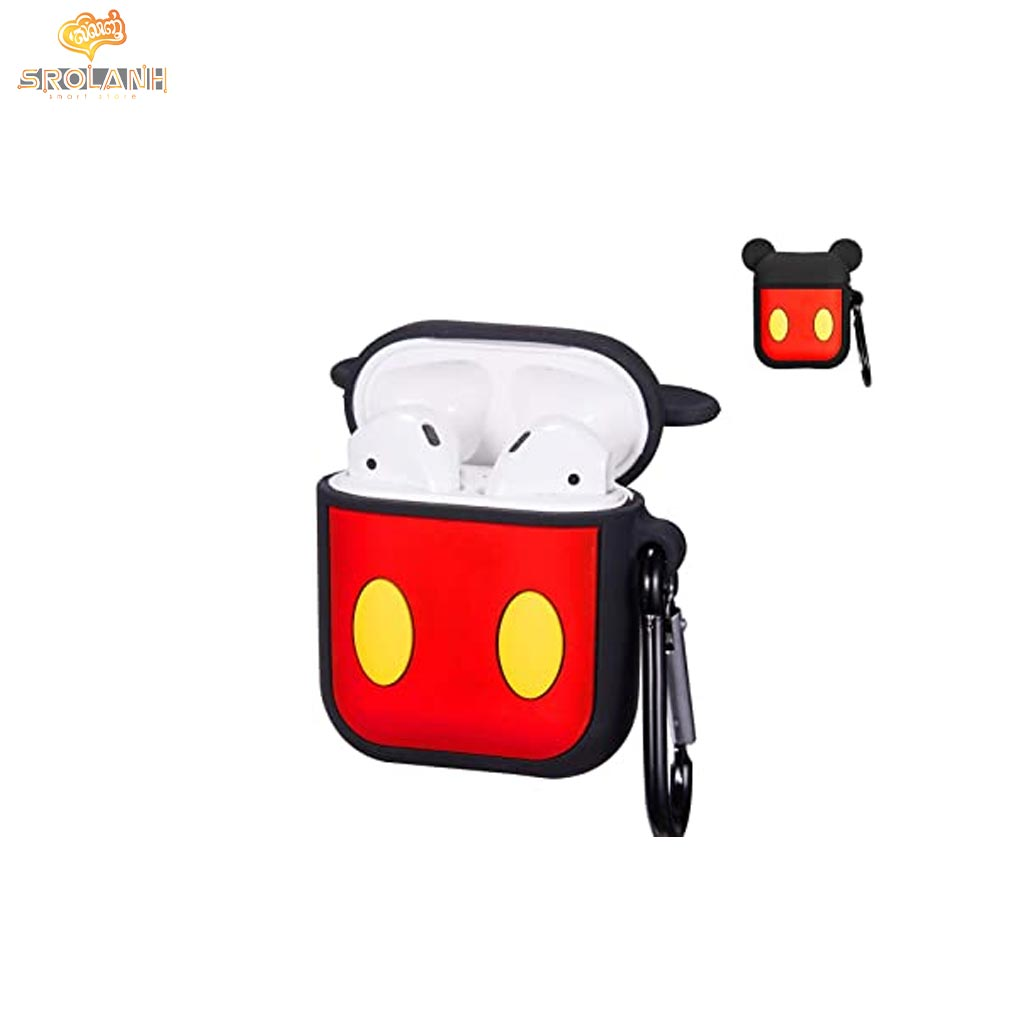 Cartoon Mickey Mouse Keychain And AirPods Case