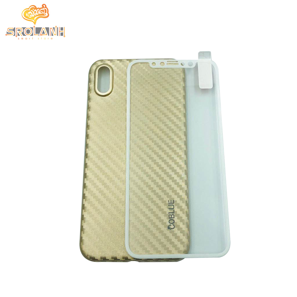 Coblue 360 Giltter glass & case 2 in 1 for iphone X